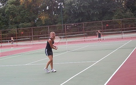 Girl's Tennis Works for Aces