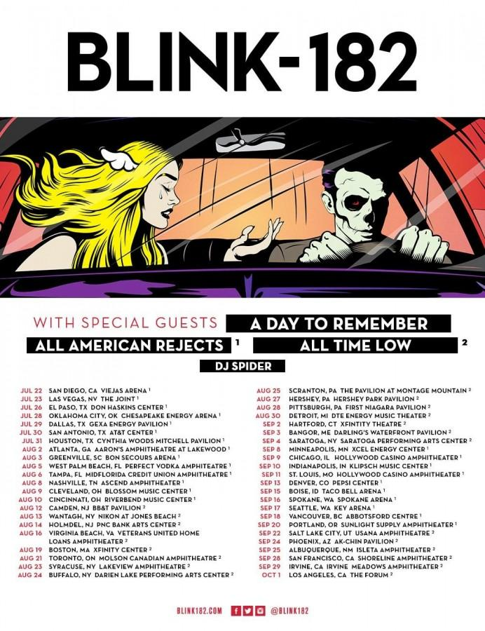 Blink-182 and A Day to Remember to Tour