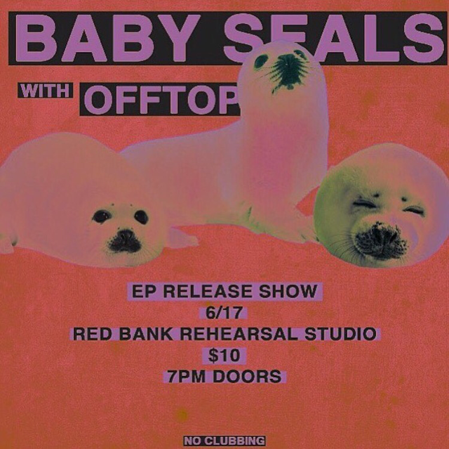 Upcoming Baby Seals EP Release Show