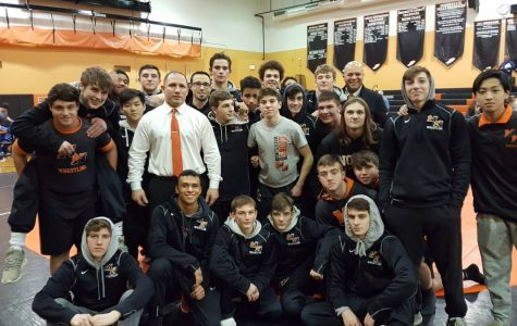 Middletown North Wrestles at the Shore Conference Tournament