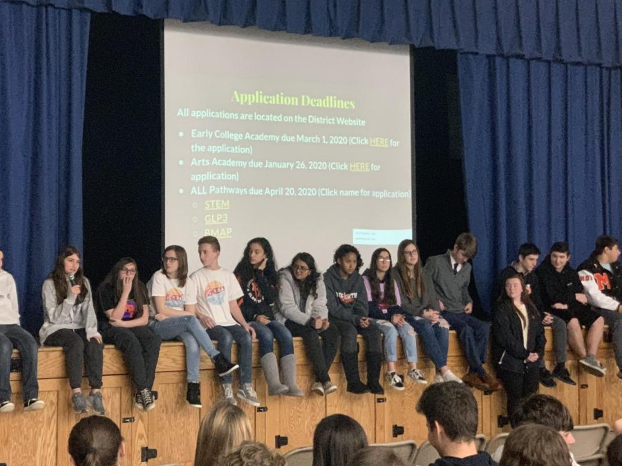 MHSN Pathways and Academy Students Visit Middle Schools