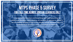 MTPS Phase 5 Survey Request Deadline Tonight