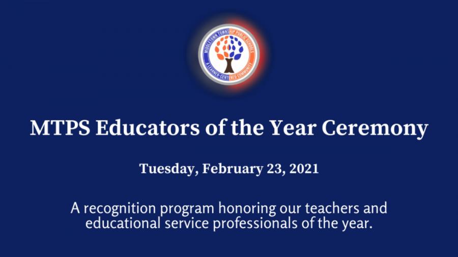 MTPS Celebrates Its 2020-21 Educators of the Year