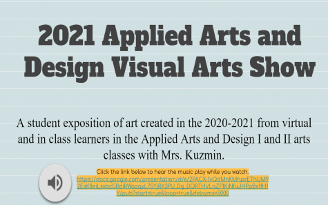 Check Out the Applied Arts and Design I and II Visual Arts Show