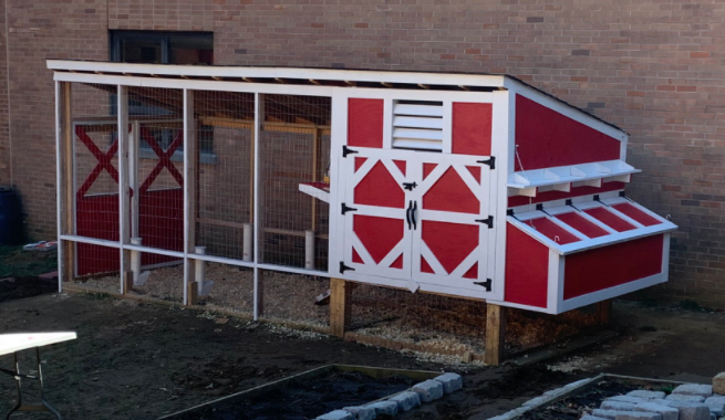 Middletown North Teachers EN-VISION Successful Chicken Coop Project